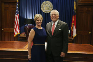 Carmen Brown With Governor Deal