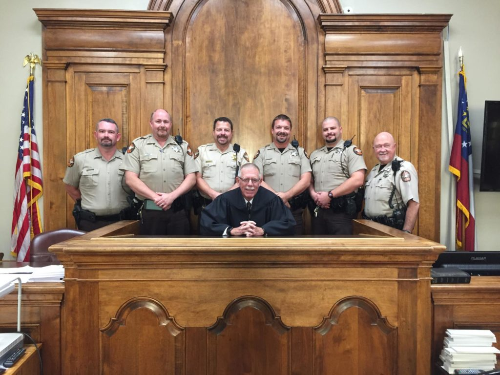 Judge Wood with the Court Services Deputies From Catoosa County