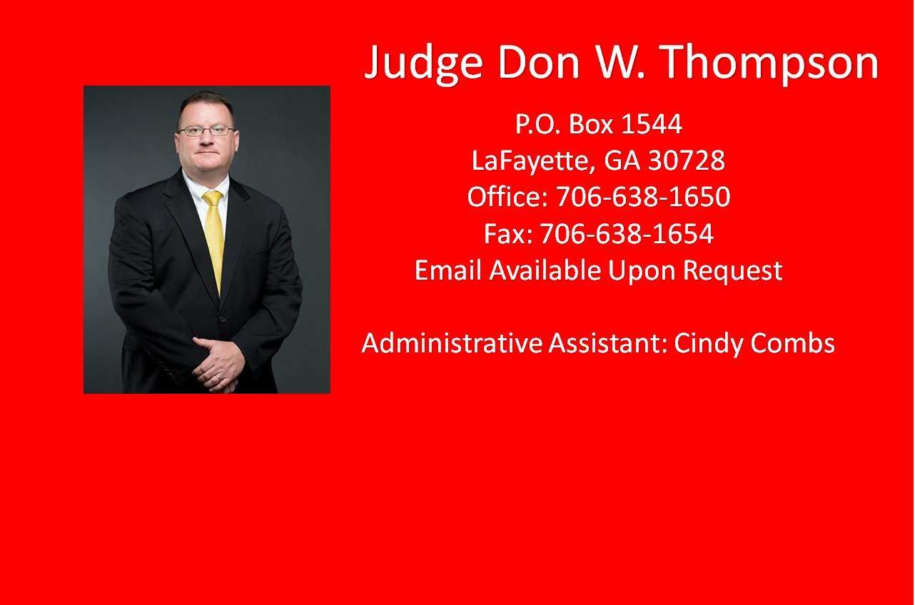 Judge Don W. Thompson